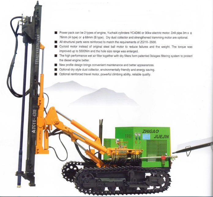 ZGYX-420/410ABD Down The Hole drill rig