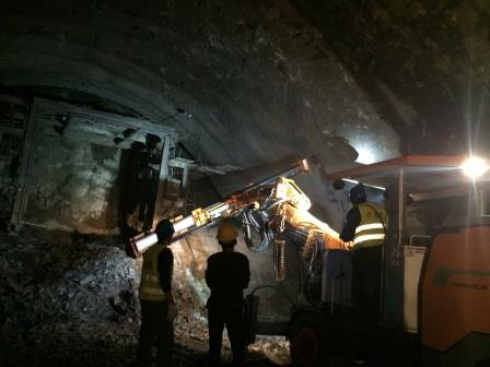 Zega's underground drill rig J21 has won our customer,China Railway Construction Engineering Group B