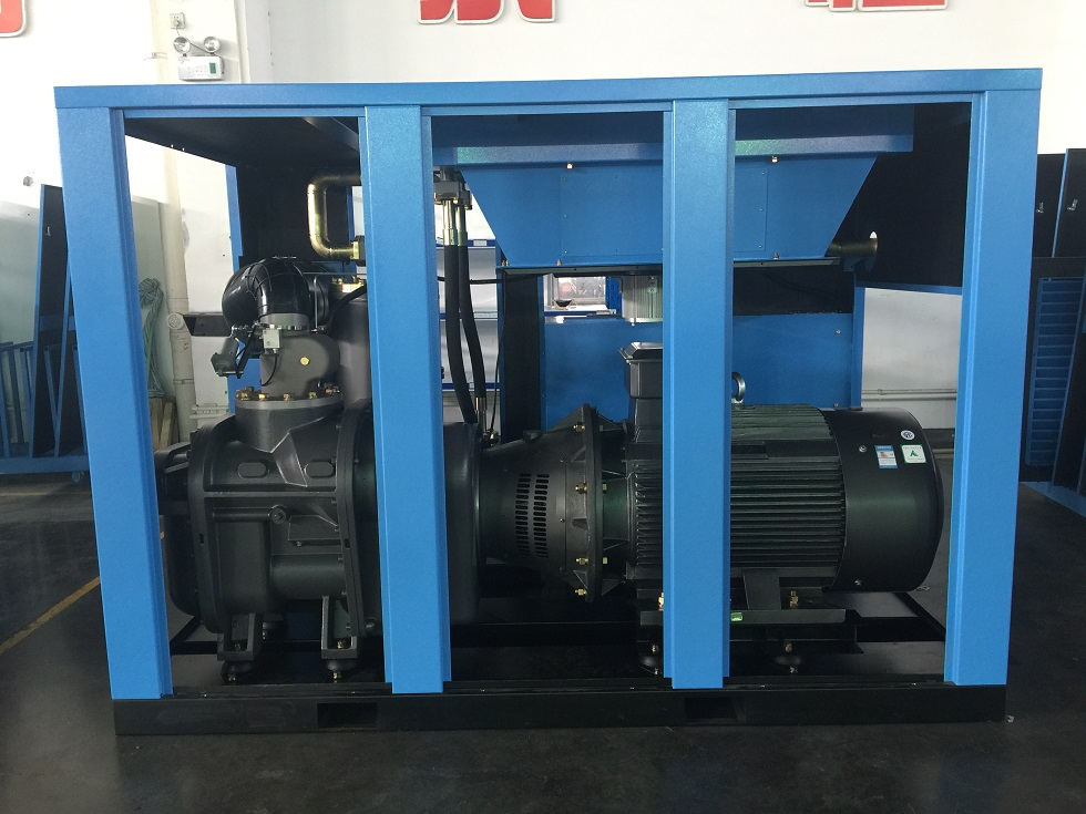 Two stage compressed PM/VSD screw air compressor