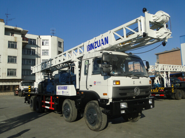 Truck mounted water well drilling rig BZC500BDF