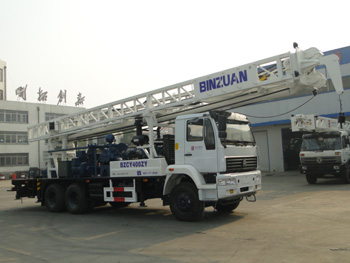 Truck mounted water well drilling rig BZCY400ZY