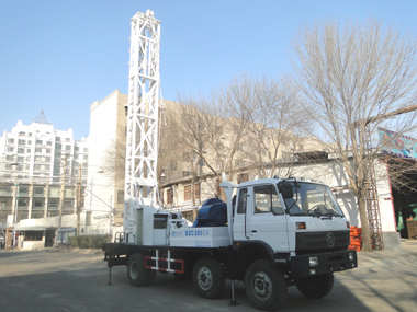 Truck mounted water well drilling rig BZC300CA