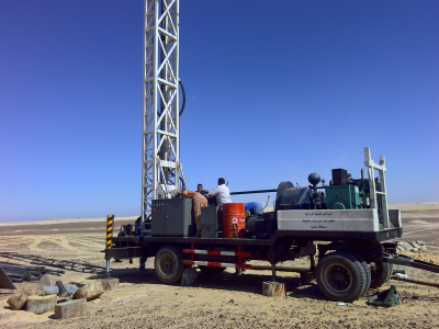 Project case for the truck mounted water well drill rig in other countries